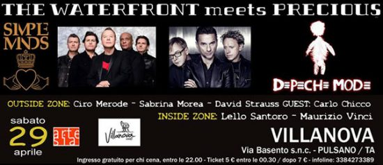 The Waterfront - Simple Minds meets Precious - Depeche Mode + Dj al Villanova di Pulsano