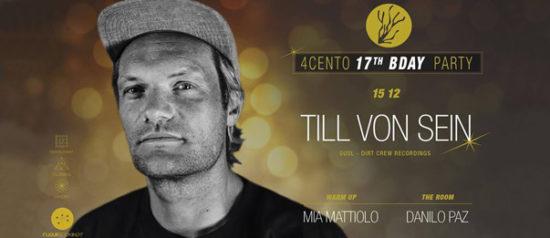 B-Day party w/ Till Von Sein al Ristorante 4cento di Milano