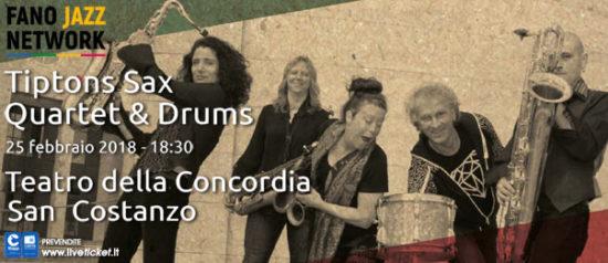 Tiptons Sax Quartet & Drums al Teatro Della Concordia di San Costanzo