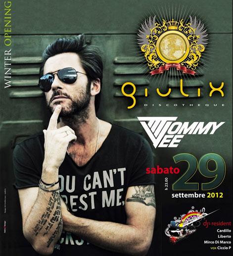Giulix Discotheque Winter Opening DJ Tommy Vee