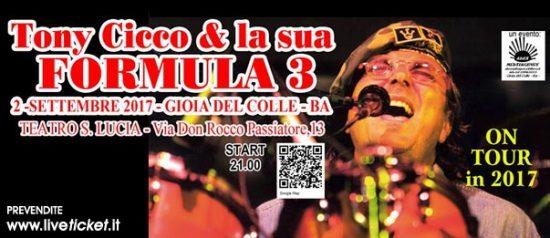 Tony Cicco e la sua formula 3 al Teatro Santa Lucia di Gioia del Colle