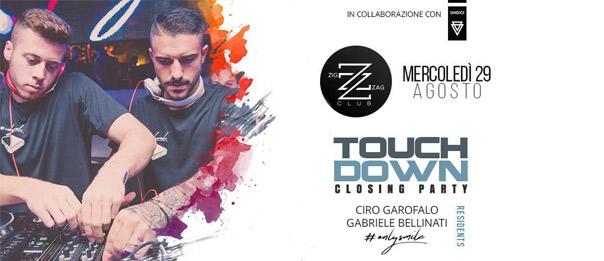 Touch Down closing party al Zig zag Club di Porto Ercole