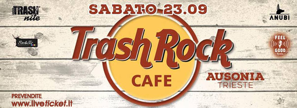 Trash Rock cafè all'Ausonia Beach Club di Trieste