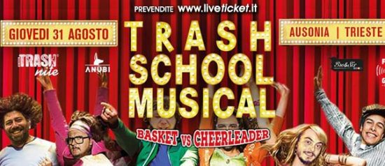Trash School Musical - Basket vs Cheerleader all'Ausonia Beach Club di Trieste