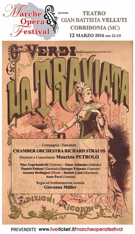 """Marche Opera Festival """"La Traviata"""" al Teatro Gian Battista Velluti di Corridonia"""