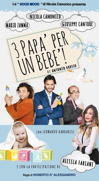 """Tre papà e un bebè"" all'Abbazia Benedettina di Lamezia Terme"