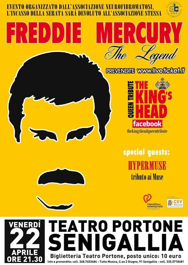 """""""FREDDIE MERCURY The Legend"""" al Teatro Portone di Senigallia"""