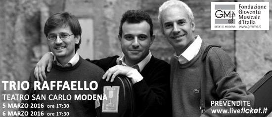 Trio Raffaello al Teatro San Carlo di Modena
