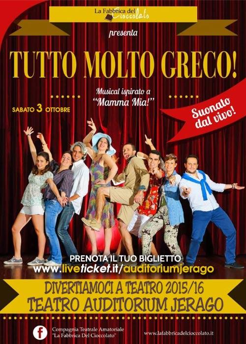 """""""Tutto molto greco"""" al Teatro Auditorium a Jerago con Orago"""