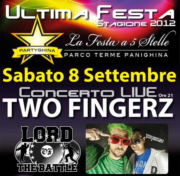 Two Fingerz al Parco Terme Panighina