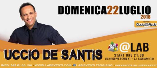 Uccio De Santis Live Show a LAB Eventi a Faggiano