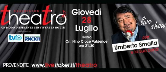Umberto Smaila live show al Teatro On. Nino Croce a Valderice