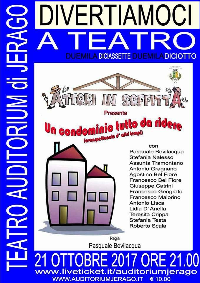 Un condomino tutto da ridere all'Auditorium Jerago a Jerago con Orago