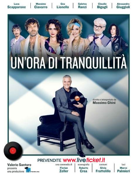 """Massimo Ghini """"Un'ora di tranquillità"""" al Teatro Alaleona di Montegiorgio"""