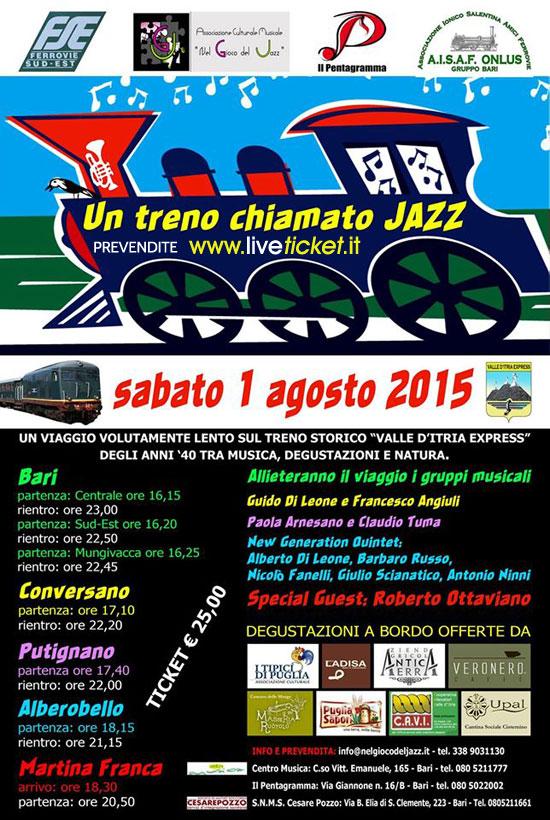 Un treno chiamato JAZZ viaggio tra Bari e Martina Franca