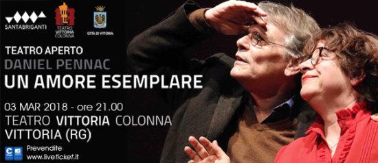 """Daniel Pennac """"Un amore esemplare"""" al Teatro Vittoria Colonna a Vittoria"""