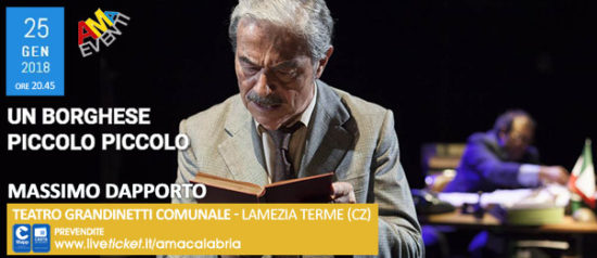 Un borghese piccolo piccolo al Teatro Grandinetti di Lamezia Terme