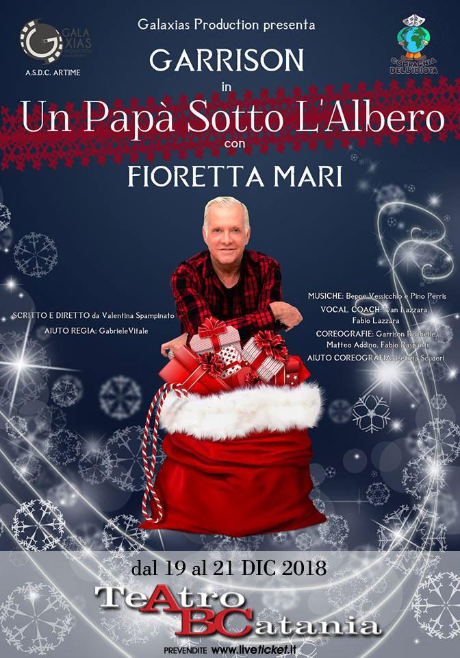 """Garrison Rochelle e Fioretta Mari """"Un papà sotto l'albero"""" al Teatro ABC a Catania"""