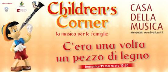 """Children's Corner """"C'era una volta un pezzo di legno"""" alla Casa della Musica a Parma"""