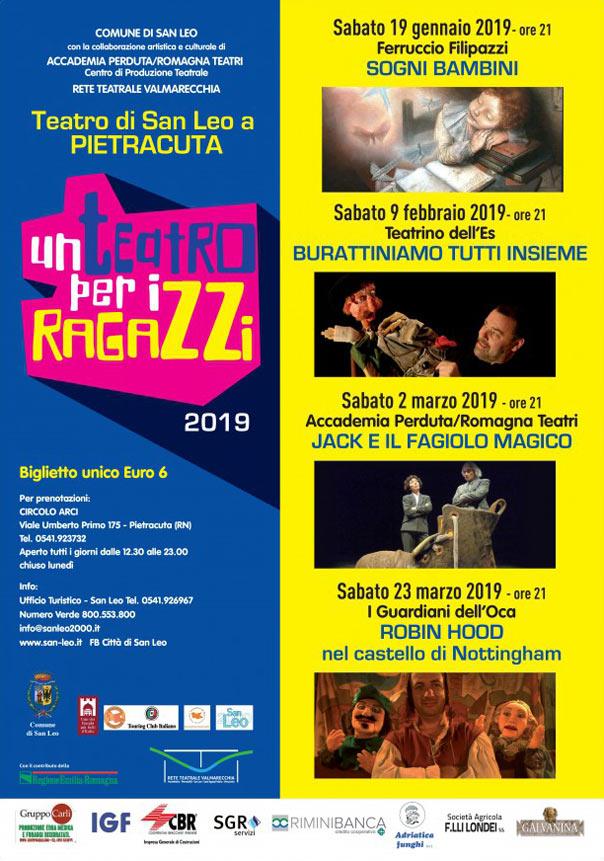 Un Teatro per i Ragazzi 2019 al Teatro di Pietracuta di San Leo