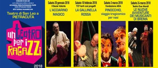 Un Teatro per i Ragazzi 2018 al Teatro di Pietracuta di San Leo