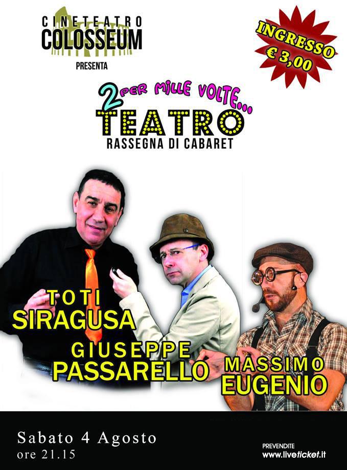 Un trio di risate al Cineteatro Colosseum a Palermo