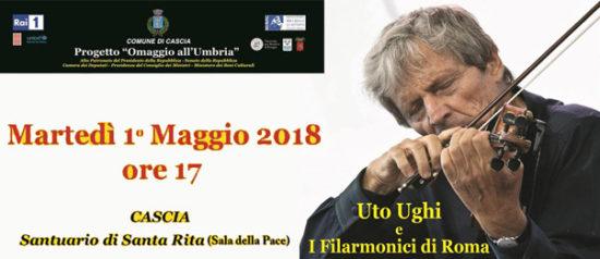 Concerto con Uto Ughi e i Filarmonici di Roma al Santuario di Santa Rita a Cascia