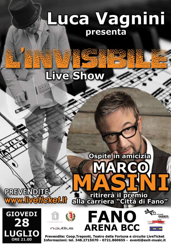 L'Invisibile Live Show all'Arena BCC a Fano
