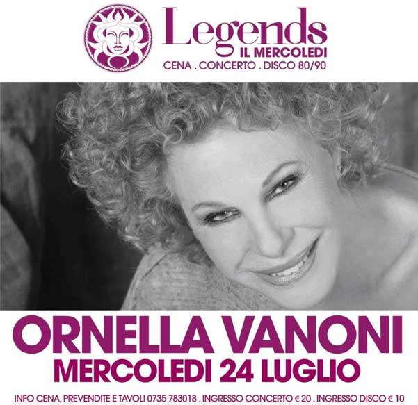 """""""I Mercoledi Medusa Legends"""" Ornella Vanoni a San Benedetto del Tronto"""
