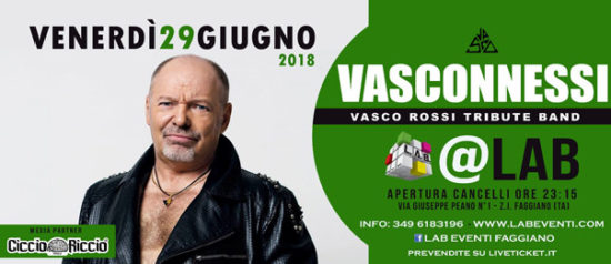 Vasconnessi - Tribute Band a LAB Eventi a Faggiano