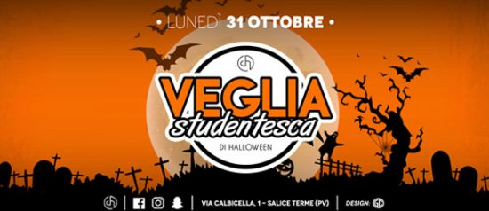 Veglia Studentesca di Halloween Club House a Salice Terme