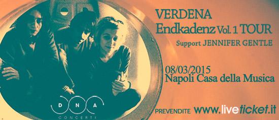 Nuovo Tour Verdena alla Casa della Musica a Napoli