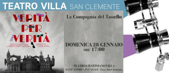 Verità per verità al Teatro Giustiniano Villa di San Clemente
