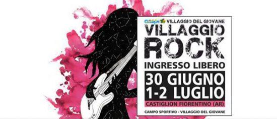 Villaggio rock 2017 al Campo sportivo Villaggio del Giovane a Castiglion Fiorentino