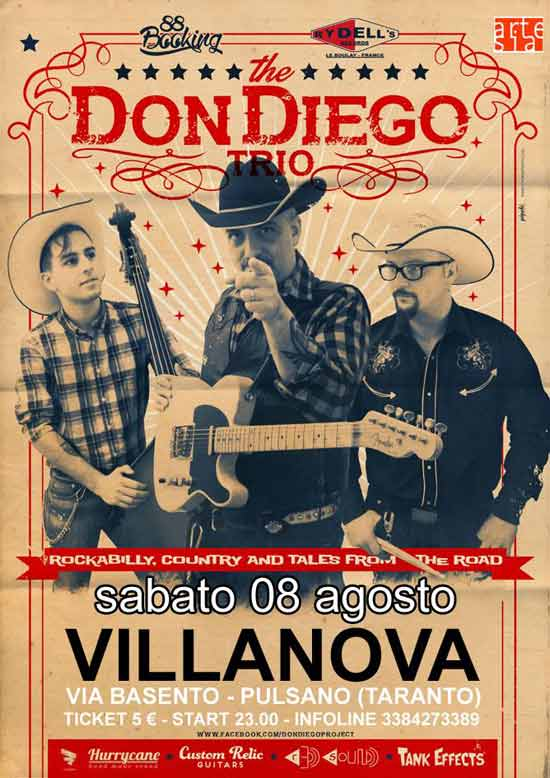 The Don Diego Trio al Villanova di Pulsano