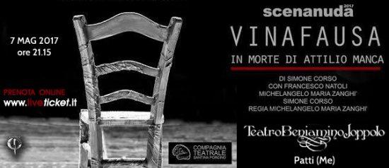 Vinafausa in morte di Attilio Manca al Teatro Beniamino Joppolo di Patti