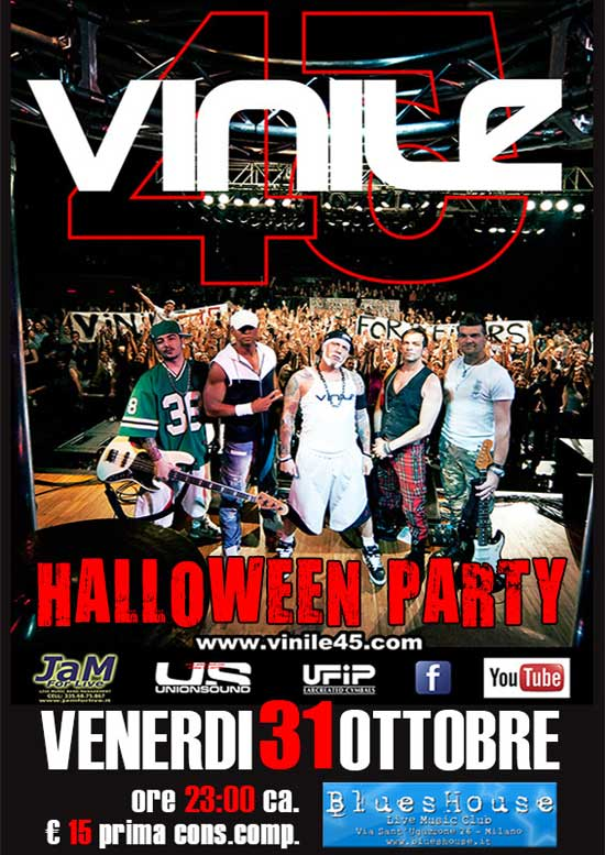"""Vinile 45"" Halloween Party live al Blues House di Milano"