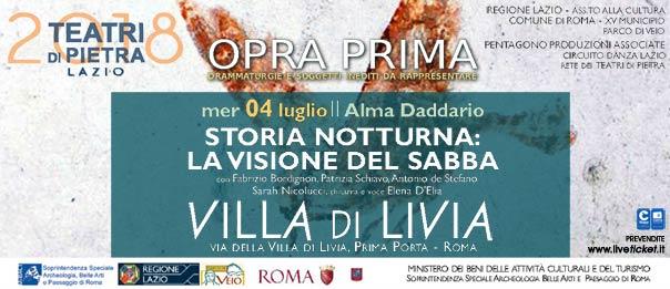 Storia notturna: La visione del sabba a Villa di Livia a Roma