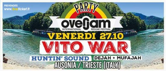 Overjam party ft. Vito War all'Ausonia Beach Club di Trieste