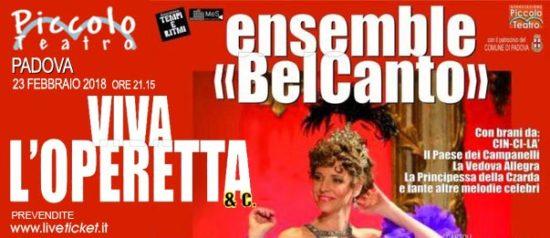 """Ensemble BelCanto """"Viva l'Operetta & Co"""" al Piccolo Teatro di Padova"""