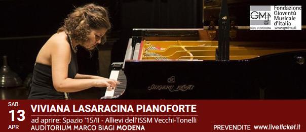 Viviana Lasaracina pianoforte all'Auditorium Marco Biagi di Modena
