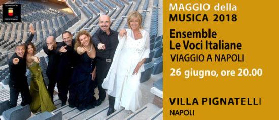 """Ensemble vocale Le voci Italiane """"Viaggio a Napoli"""" a Villa Pignatelli a Napoli"""