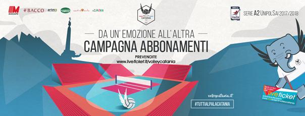 Messaggerie Bacco Volley Catania serie A2 UnipolSai Stagione 2017/18