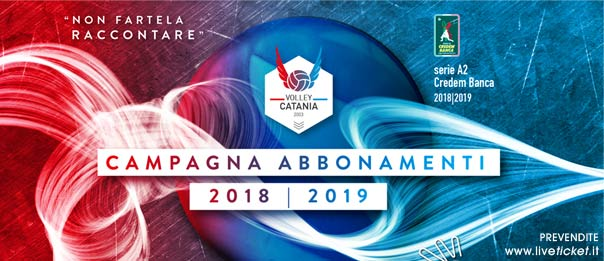 Messaggerie Bacco Volley Catania serie A2 Credem Banca Stagione 2018/19