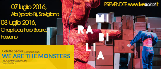 "Colette Sadler ""We are the monsters"" al Mirabilia Festival 2016"