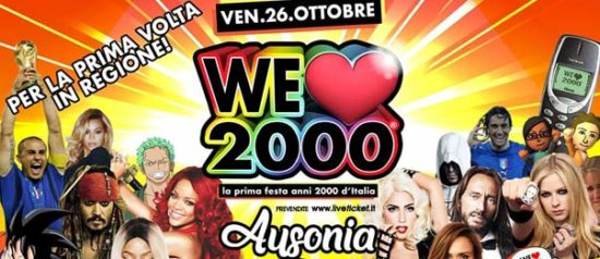 We love 2000 all'Ausonia Beach Club di Trieste