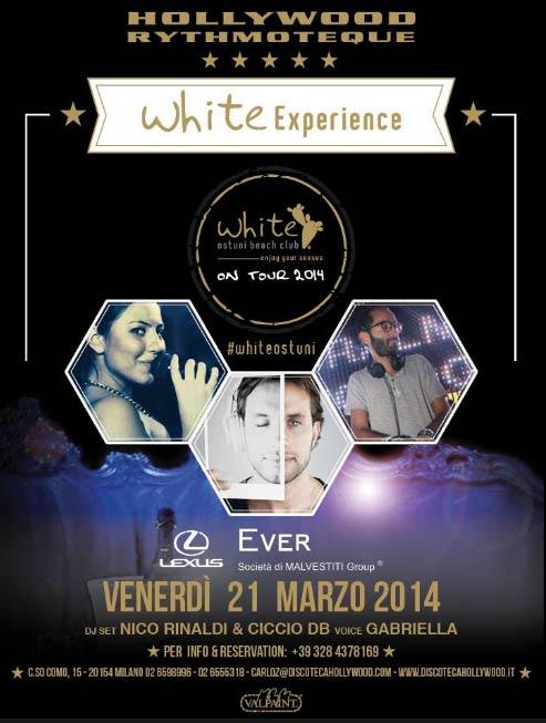 White Experience at Hollywood Milano