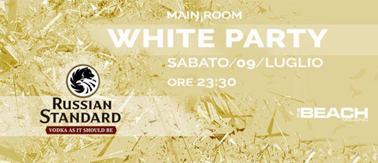 White Party al The Beach Club a Milano