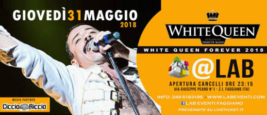 White Queen - European Tribute Band a LAB Eventi a Faggiano