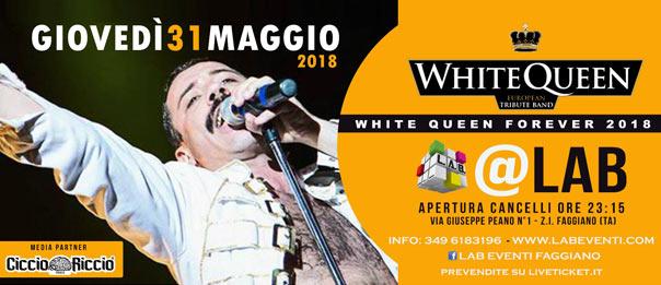 White Queen - European Tribute Band a LAB Eventi a Faggiano